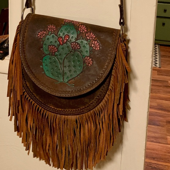 Double J Saddlery Prickly Pear Cactus Saddle Bag